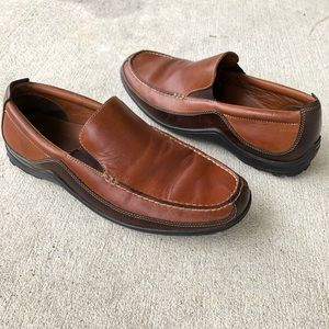 Cole Haan Men's Brown Leather Vibram Sole Loafers